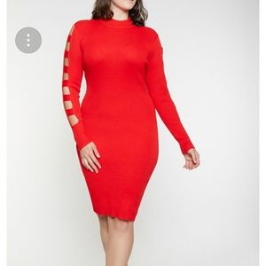 Dresses & Skirts - caged sleeves dress
